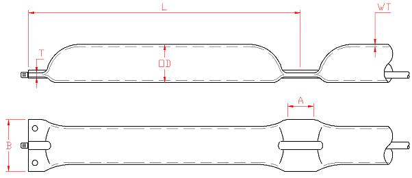 Bryggefender, detaljtegning